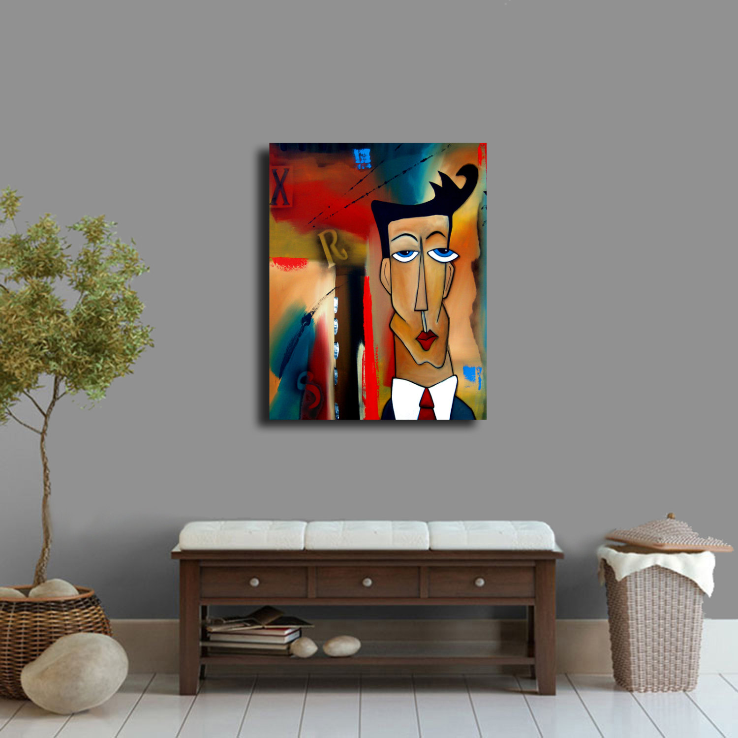 TAKE ME HOME Original Abstract Painting Modern Art Print decor by Fidostudio